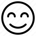 emoticon, smiley, expression, outline, happy, emoji icon