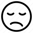 emoji, emoticon, expression, face, line, outline icon