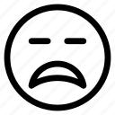 line, face, emoticon, expression, outline, emoji icon