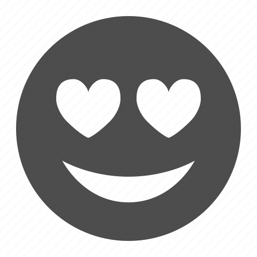 emoticon, emoticons, face, happy, heart, love, smiley icon