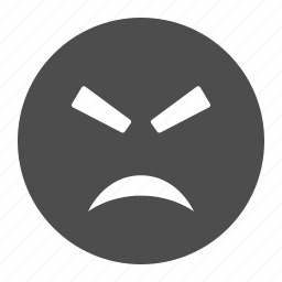angry, emote, emoticon, face, furious, mad, smiley, smiley face icon
