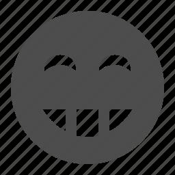 emoticon, emoticons, face, happy, laughing, smile, smiley icon