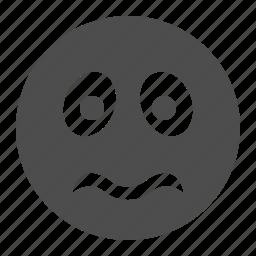 emote, emoticon, face, sad, smiley, smiley face, worried icon