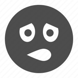 emote, emoticon, emoticons, face, sad, smiley, smiley face, worried icon