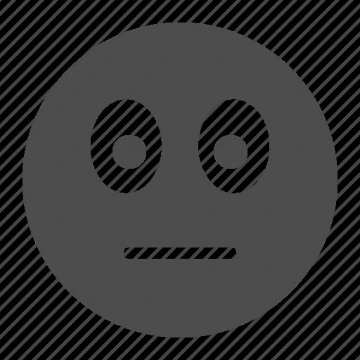 emote, emoticon, face, indiferent, smiley, smiley face icon