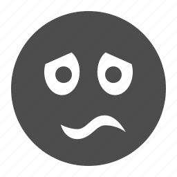 emote, emoticon, emoticons, face, sad, smiley, worried icon