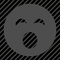 emoticon, emoticons, face, sleepy, smiley, smiley face, yawning icon