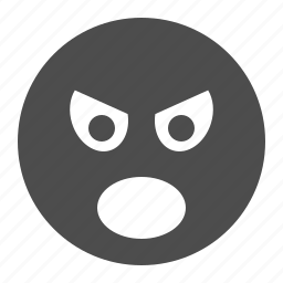 angry, emote, emoticon, face, screaming, smiley, smiley face icon