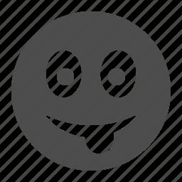 emoticon, emoticons, face, smile, smiley, smiley face, tongue icon