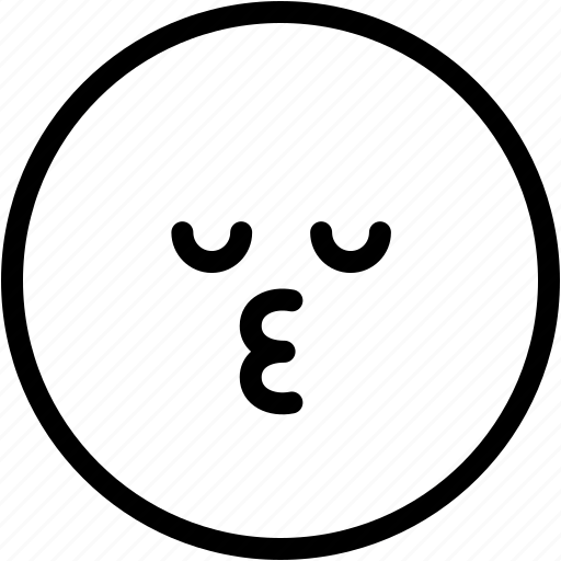 Emoji, emotion, expression, face, feeling, kiss icon - Download on Iconfinder