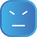 angry, blue, emoji, face, facial, smiley icon
