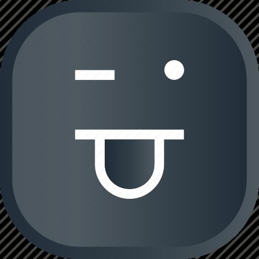 emoji, face, facial, funky, funny, smiley icon