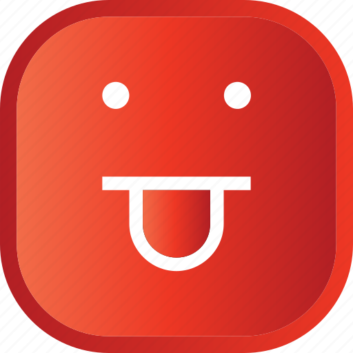 emoji, face, facial, funny, red, smiley icon