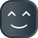 dark, emoji, face, facial, happy, smiley icon