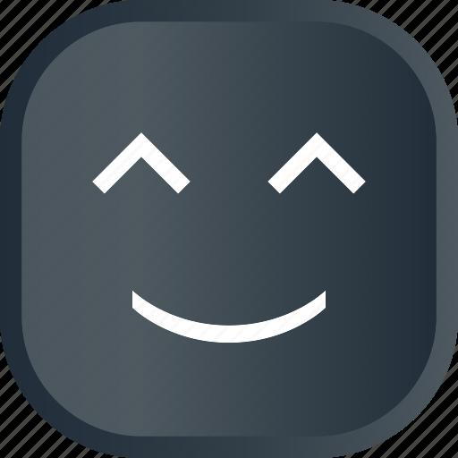 dark, emoji, face, facial, happy, smiley icon