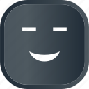 dark, emoji, face, facial, happy, smile, smiley icon