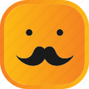 emoji, face, facial, mustache, smiley icon