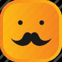 emoji, face, facial, mustache, smiley icon