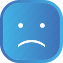blue, emoji, face, facial, sad, smiley icon