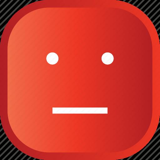 emoji, face, facial, red, sad, smiley icon