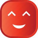 emoji, face, facial, red, smiley, smily icon