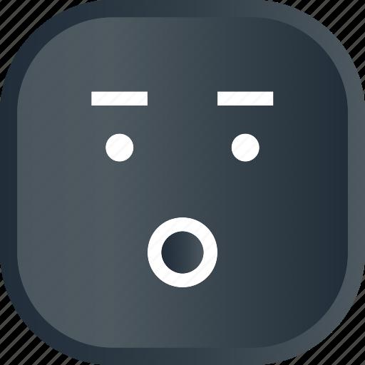 emoji, face, facial, smiley, wow icon