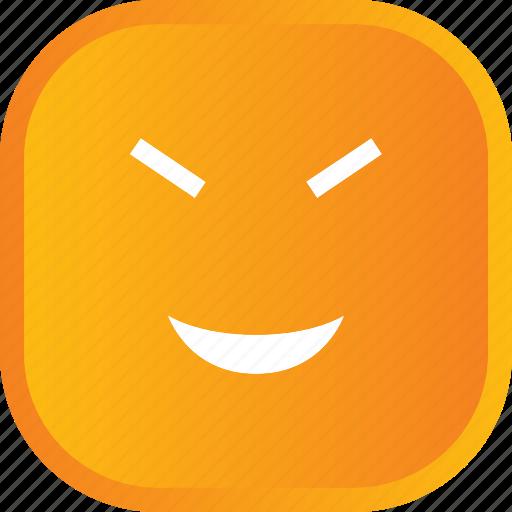 emoji, face, facial, smile, smiley, yellow icon