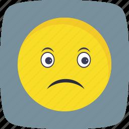 emoticon, face, sad, smiley icon
