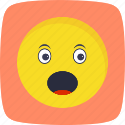 emoticon, face, smiley, surprised icon