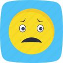 emoticon, face, nervous, smiley icon