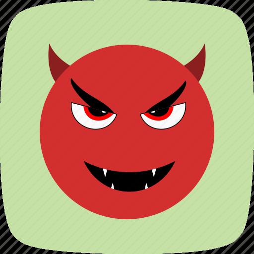 devil, emoticon, face, smiley icon