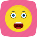 emoticon, face, shouting, smiley icon