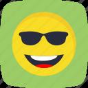 emoticon, cool, smiley