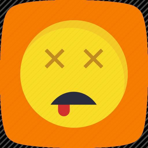 dead, emoticon, face, smiley icon
