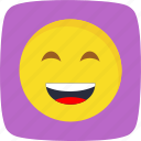 emoticon, laughing, smile icon