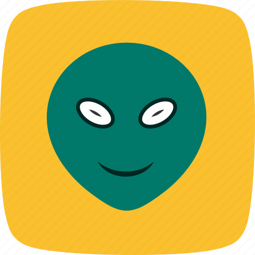 alien, emoticon, face, smiley icon
