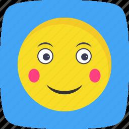 blush, emoticon, face, smiley icon