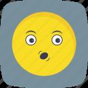emoticon, face, smiley, whistle icon