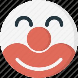 avatar, clown, emoticons, face, happy, smiley icon