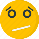 confused, emoticons, expression, face, sad, scared icon