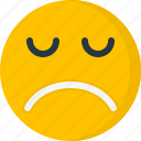depression, emoticon, emoticons, emotion, face, sad, unhappy icon