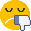 dislike, unhappy, emoticons, unlike, sad, expression, face