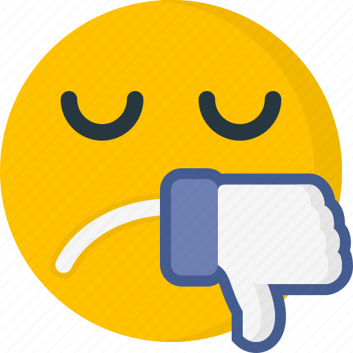 dislike, emoticons, expression, face, sad, unhappy, unlike icon
