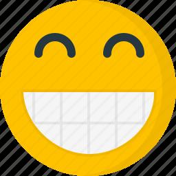 big grin, emoticons, emotion, face, happy, smile, smiley icon
