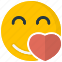 emoticons, face, happy, love, smile, smiley, valentines icon