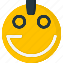 emoticons, smiley, punk, cool, face, emoticon