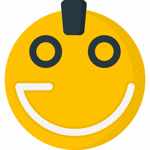 cool, emoticon, emoticons, face, punk, smiley icon
