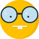 face, emoticons, glasses, nerd, smarth