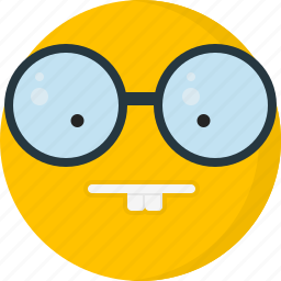emoticons, face, glasses, nerd, smarth icon
