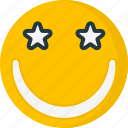 smile, emoticons, smiley, star, happy, face